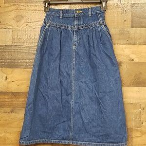 Vintage Lee casuals high waisted denim skirt Sz 8